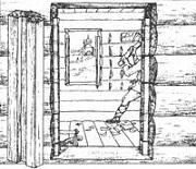 Отёска стен и прирубка косяков